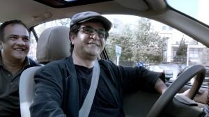 """Jafar Panahi dans """"Taxi Téhéran"""".  DR"""
