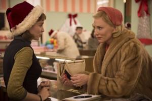 La rencontre de Thérèse Belivet (Rooney Mara) et Carol Aird (Cate Blanchett). DR