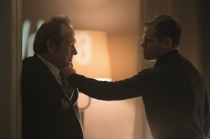 Jason Bourne (Matt Damon) face au patron de la CIA(Tommy Lee Jones). DR