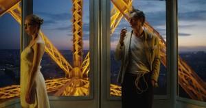 Fiona et Dom (Dominique Abel) sur la tour Eiffel. DR