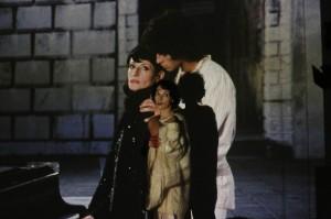 Jeanne Balibar et la vraie Barbara sur l'écran. DR