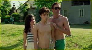 Marzia (Esther Garrel), Elio et Oliver. DR