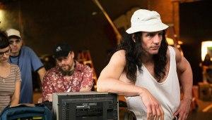Tommy Wiseau (James Franco) en tournage. DR