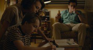 Jeanette, Joe et Jerry dans leur maison du Montana.
