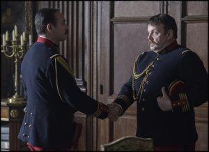 Picquart et le commandant Henry (Gregory Gadebois). DR