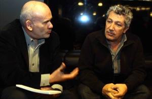 """Décembre 2012 avec Alain Chabat pour la sortie de """"Sur la piste du Marsupilami"""". DR"""