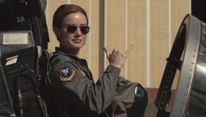 Claire Danvers (Brie Larson), Terrienne et pilote d'essai. DR