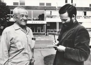 En septembre 1979 à Mulhouse avec William Wyler. DR
