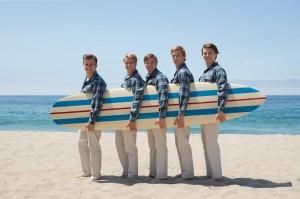 Groupe triomphant des sixties, les Beach Boys avec, à droite, Brian Wilson.