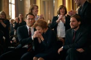 Un long combat judiciaire: Ryan Reynolds, Helen Mirren, Daniel Brühl.
