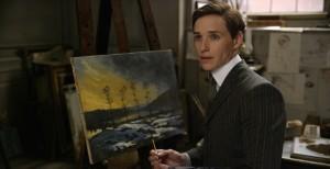 Einar Wegener (Eddie Redmayne) peintre paysagiste. DR