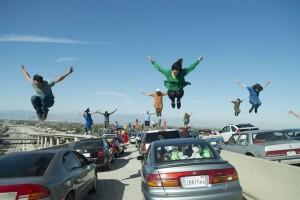 Quand la danse s'invite sur l'autoroute. DR