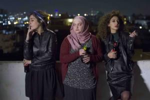 Salma (Sana Jammalieh), Nour (Shaden Kanboura) et Laila (Mouna Hawa). Photos Yaniv Berman