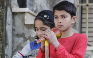 Mohammed (Qais Atallah) et Nour (Hiba Atallah). DR