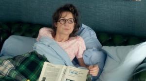 Marie-Francine squatte le canapé du salon de ses parents. DR