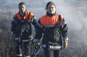 Les hommes du feu: Roschdy Zem et Emilie Dequenne. DR