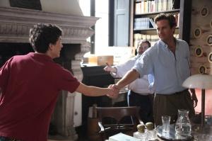 Elio (Timothée Chalamet) rencontre Oliver (Armie Hammer). DR