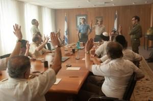 Perès (à gauche) et Rabin (au centre) décident de l'action militaire. DR