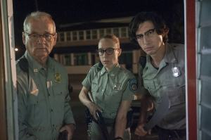 Le chef Roberston (Bill Murray) et ses adjoints Minny (Chloë Sevigny) et Ronnie (Adam Driver). DR