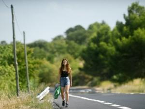 Nina sur les routes de l'Hérault. DR
