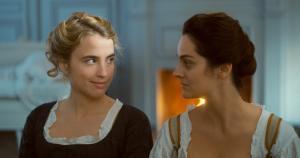 Entre Héloïse (Adèle Haenel) et Marianne (Noémie Merlant), la grâce des regards. DR