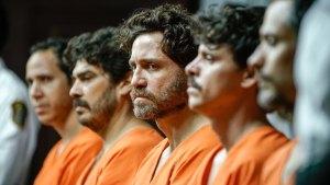 René Gonzalez (au centre) sur le bac des accusés. DR
