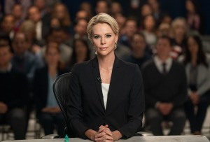 Megyn Kelly (Charlize Theron) sur le plateau de Fox News. DR