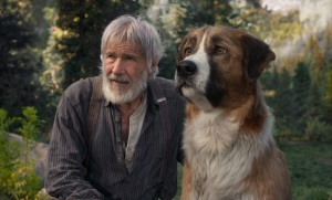 """""""L'appel..."""": John Thornton (Harrison Ford) et Buck. DR"""